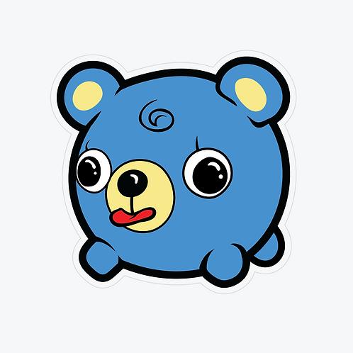 Jabber Ball Neon Bear Sticker