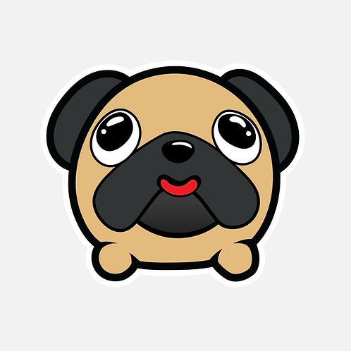 Jabber Ball Pug Sticker