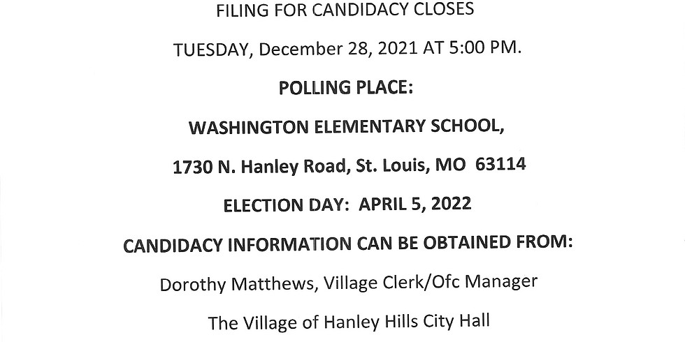 Notice for Candidacy Filing