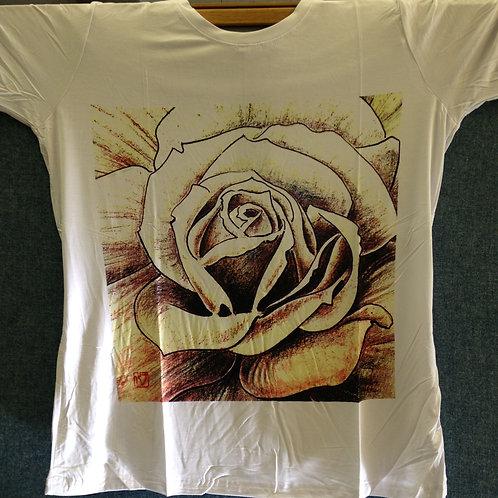 Chen Yuhua T-Shirt Style 2 (Rose in Brown & Yellow)