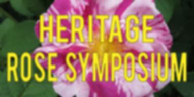 Heritage Rose Symposium Header Eventbrit