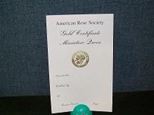 Mini Horticulture Certificate Gold