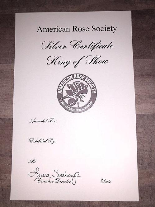 Horticulture Certificate Silver