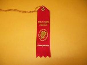 Miniature Arrangements Ribbon - Second Place Red
