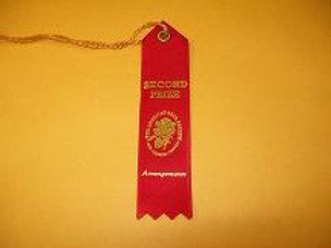 Miniature Arrangements Ribbon - Second Place Red