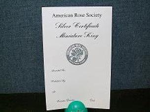 Mini Horticulture Certificate Silver
