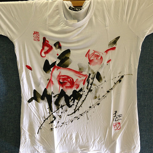 Chen Yuhua T-Shirt Style 3 (Red & White Roses)