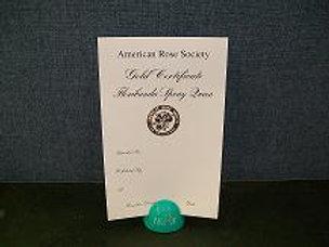 Floribunda Spray Certificate Gold