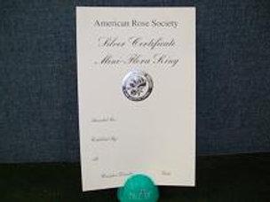 Miniflora Horticulture Certificate Silver