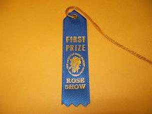 Miniature Arrangements Ribbon - First Place Blue