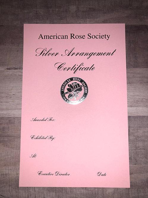 Arrangement Certificate Silver