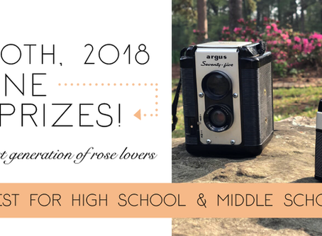 2018 Middle & High School Photo Contest