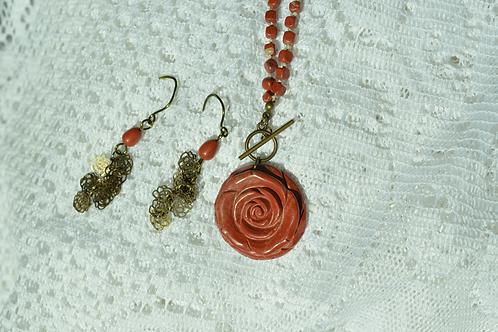 Red Jasper & Mini Rose Chain