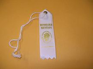 Miniature Horticulture Ribbon - Honorable Mention White