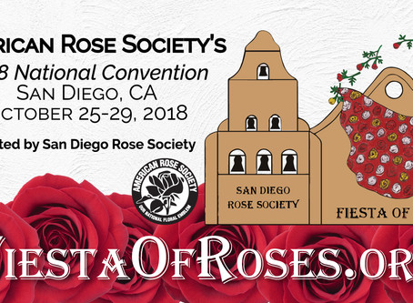 2018 ARS Fall Convention, Rose Show & 2018 Pacific Southwest District Convention