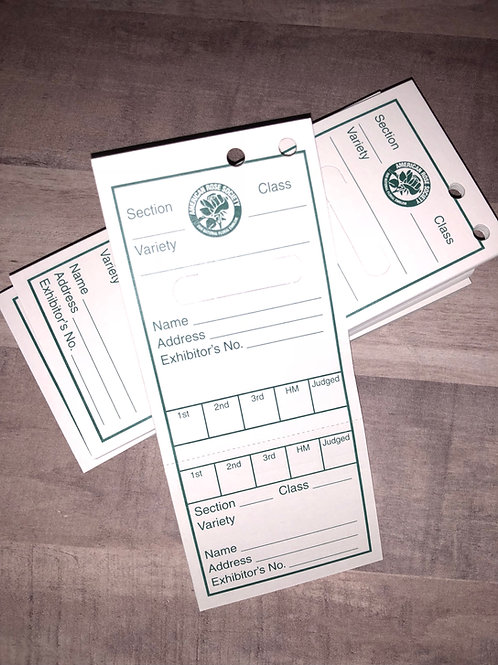 Miniature Horticulture Entry Tags