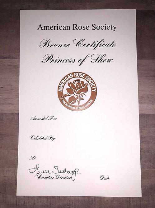 Horticulture Certificate Bronze