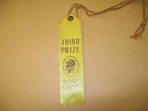 Miniature Arrangements Ribbon - Third Place Yellow