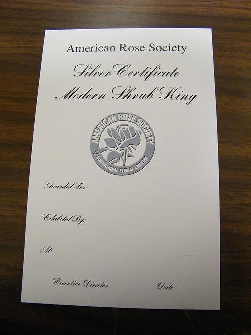 Modern Shrub Certificate Silver