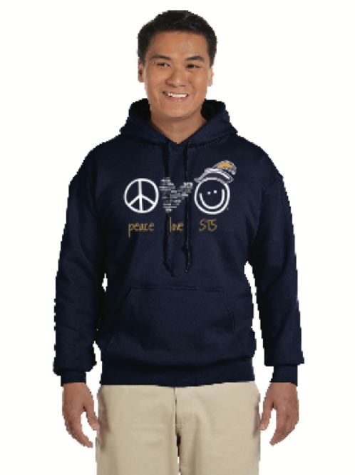 STS Peace Love World Hoodie - Adult