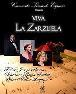 Cartel Viva La Zarzuela con Gema Scabal.