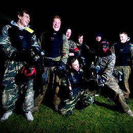 Stag and hen paintballing parties near Newcastle, Durham and Sunderland