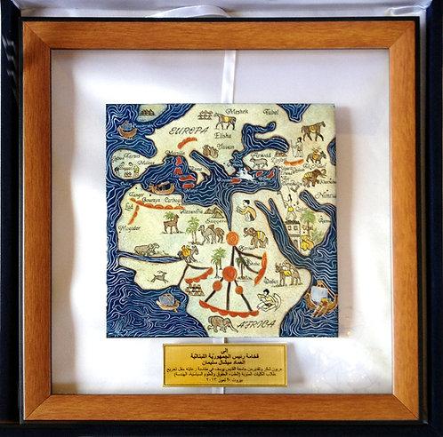 Carte Méditerranée et nord de l'Afrique