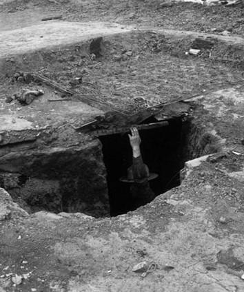 Les grévistes de Ludlow avaient creusés sous leur tente pour se protéger