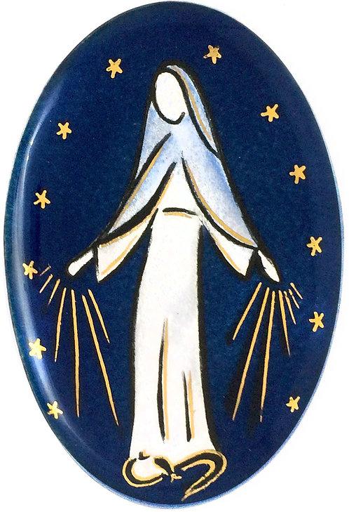 Vierge ovale