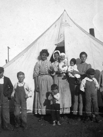 Famille de grévistes à Ludlow