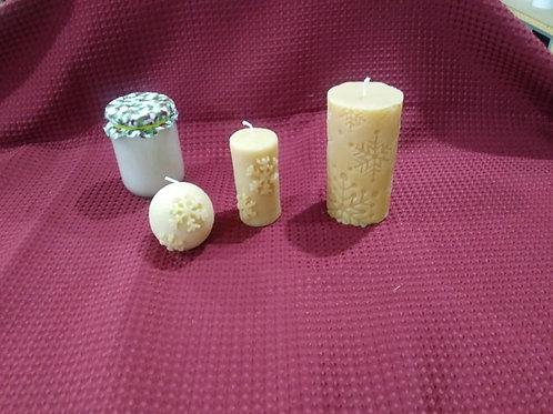 Snowflake Candles and Sets (starting at)