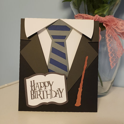 Wizard School Birthday Card with envelope