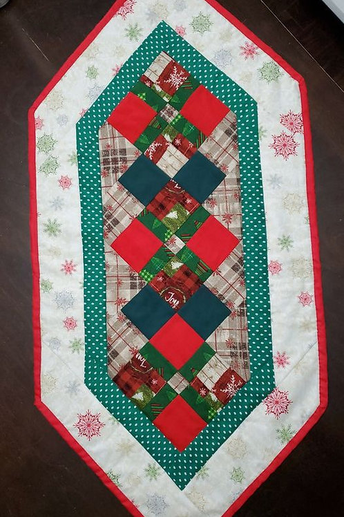 Christmas Table Runner 17x37 Inches