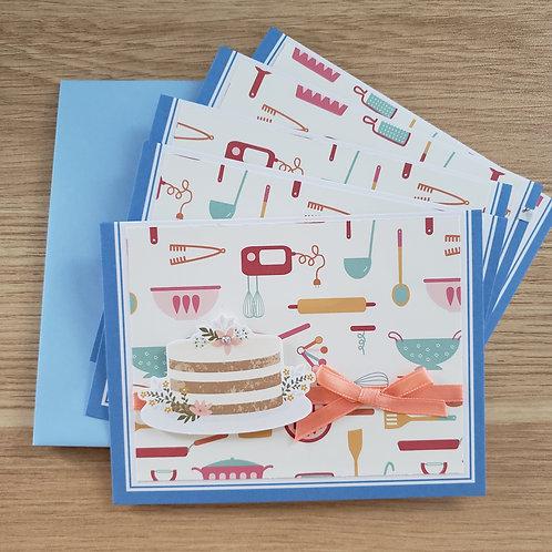 Set of 5 Notecards (cake)
