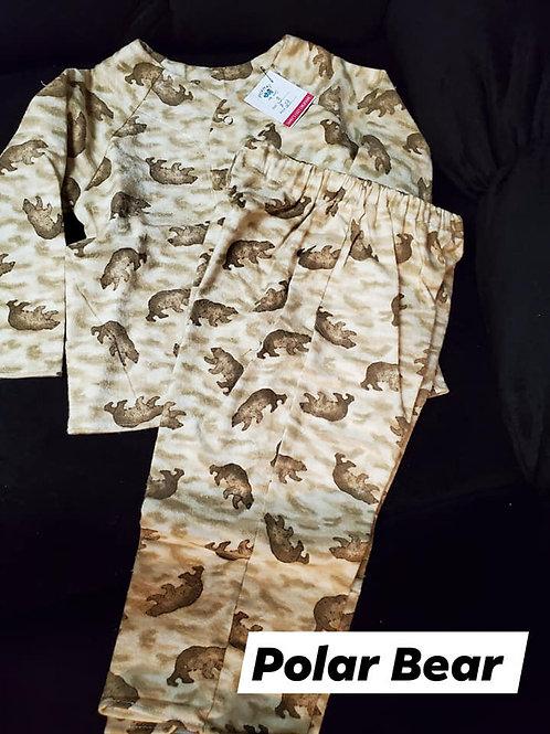 Long Sleeve PJ Set Size 3- Polar Bears