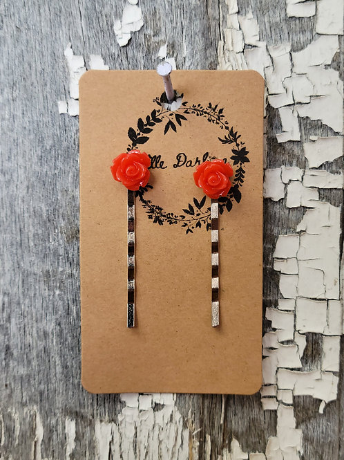 Rose Bobby Pin Set