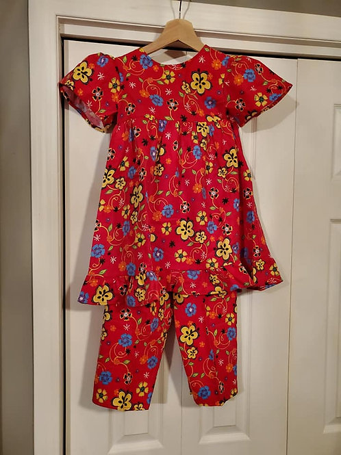 Girls 2pc PJ Set Size 6