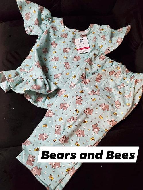 Bears and Bees PJ Set