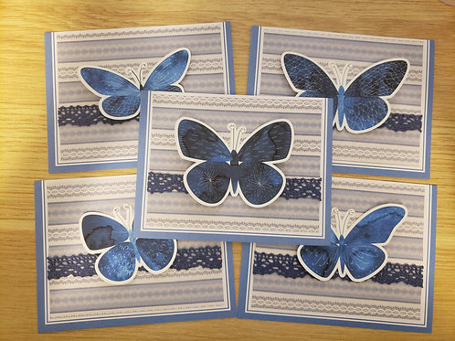 Set of 5 Notecards (Butterfly)