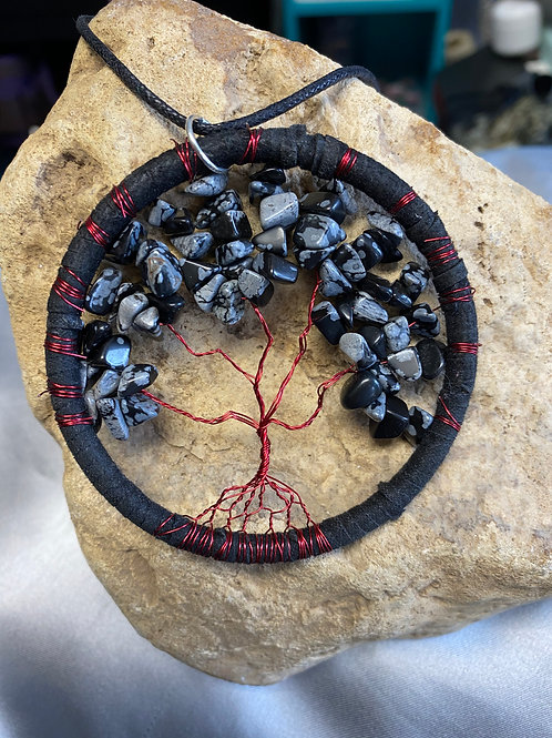 "3"" snowflake obsidian tree of life"