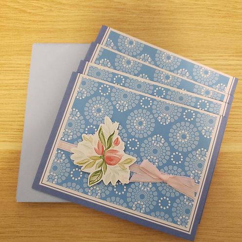 Set of 4 Notecards (Flowers)