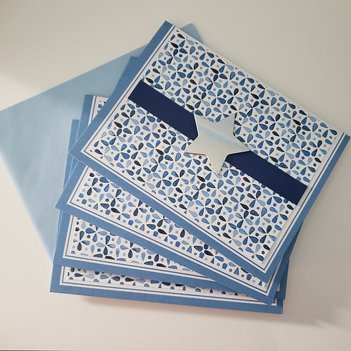 Set of 4 Notecards (Star)