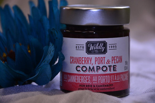 Cranberry, Port & Pecan Compote - Wildly Delicious - $6.5