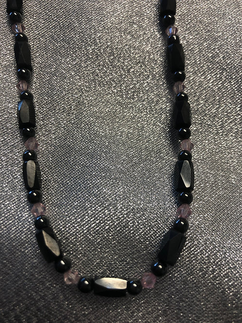 Therapeutic magnetic hematite necklace