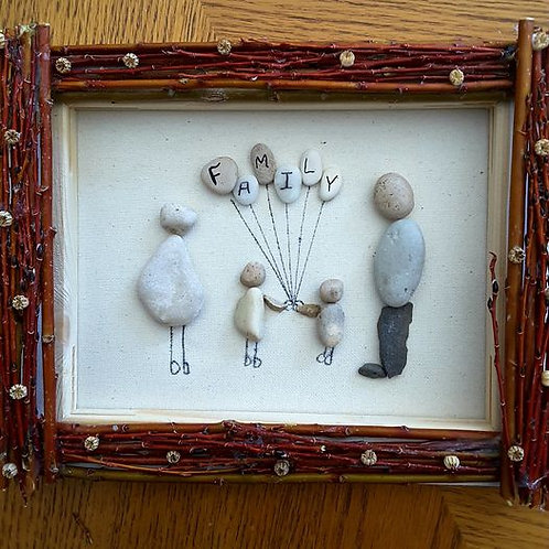 Family, Wood Frame, No glass, 8  x  10