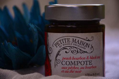 Peach Bourbon & Black Tea Compote - Wildly Delicious - $6.60