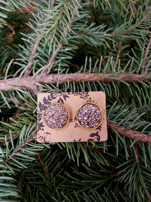 89 - Faux Druzy - Rose Gold with Gold