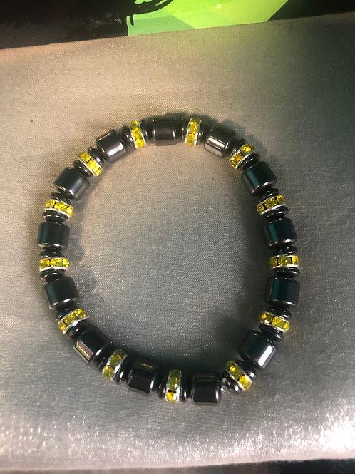Mans size hematite bracelet