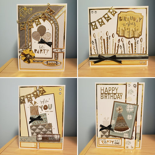Set of 4 Birthday Cards (Party)