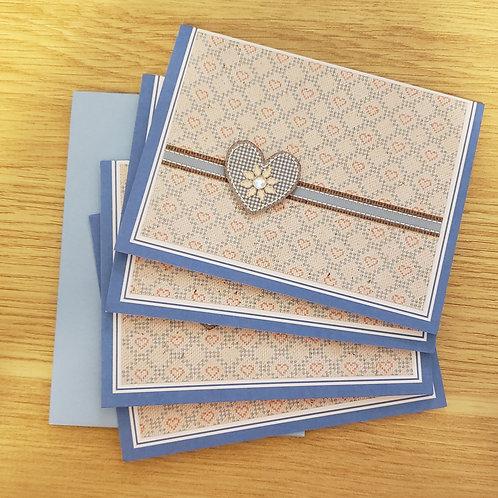 Set of 4 Notecards (heart)